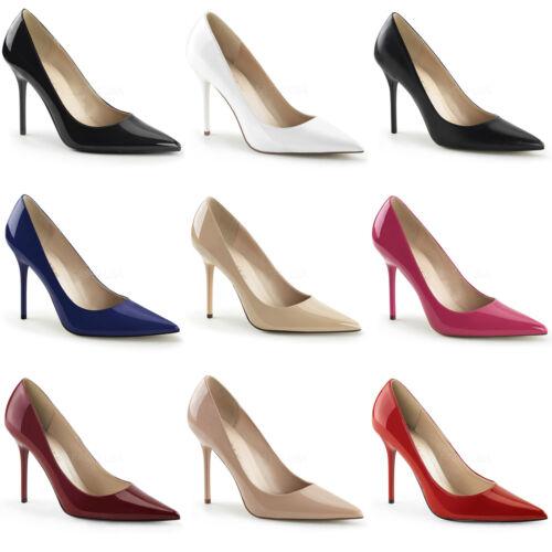 Classique-20 elegante Pleaser Damen High-Heels Pumps Lack und Lederoptik 35-47