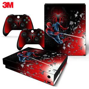 Xbox One X Console Skin Decal Sticker Spider Man Superhero