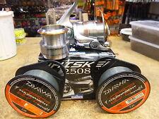 DAIWA WHISKER 2508 REEL - Wh2508 - RRP110.00 2x spools ST line