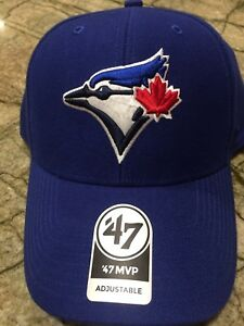 Details about Toronto Blue Jays 47 Brand MVP Clean Strap Adjustable Field  Blue Hat Cap MLB