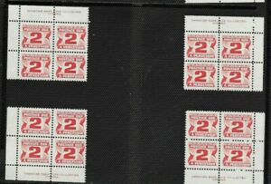 pk53314-Stamps-Canada-J29-Postage-Due-2-cent-Plate-Block-Set-MNH