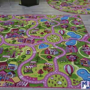 Shaped like a beautiful crown, the Fun Rugs Pretty Princess Accent Rug adds a lasting impression to your little girl's bedroom or playroom. Colored in pink, gold and blue with the word