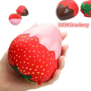 11CM-Geant-Ecrasable-Chocolate-Confiture-Fraise-Compressible-Pain-Gateau