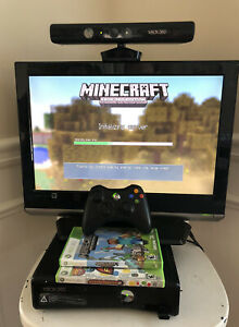 Microsoft Xbox 360 E 250GB Black Console Bundle - Kinect ...