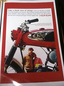 Image Is Loading Vintage Honda S90 Motorcycle Poster Man Cave Garage