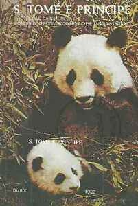 Timbre Animaux Pandas St Thomas et Prince BF127 o lot 2714 - France - Timbre oblitéré en bloc feuillet - France