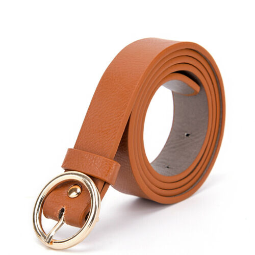 Boho Women Lady Vintage Metal Leather Round Buckle Waist Belt Waistba/_fr