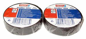 2x-Tesa-Cinta-Aislante-PVC-4252-15mm-X-10m-Adhesiva-Iso-Tape-Band-Iva