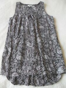 Fat Face Kingston Batik Paisley Tunic BNWT Black Women/'s 100/% Viscose