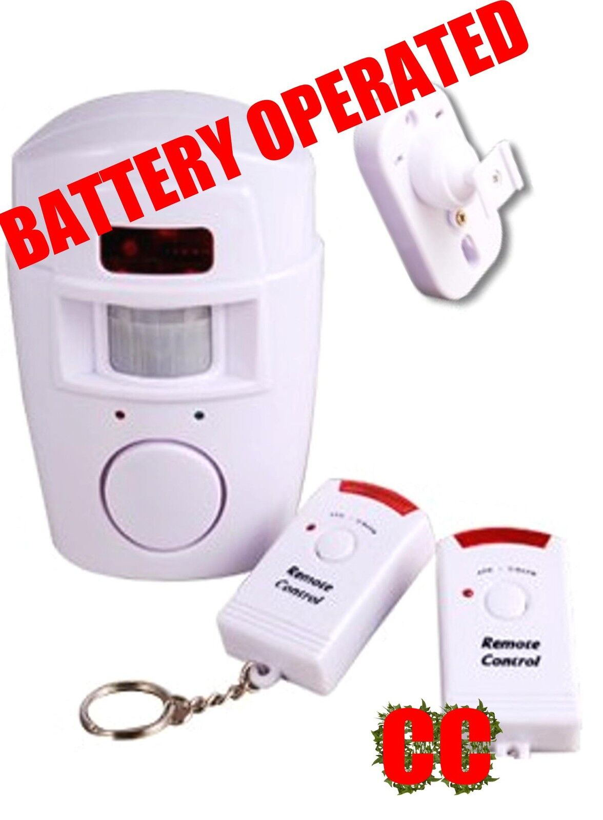 Battery Operated House Alarm Motion Sensor Shed Garage Motor Home Burglar Powered By Norton Secured Verisign