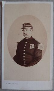 Photo Carte De Visite Cdv Militaire Medaille Au