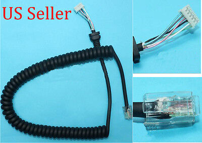 Speaker Mic Cable Microphone Cord for Yaesu MH-48A6J MH-42B6J MH-36A6J FT-7800