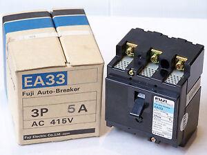 FUJI-ELECTRIC-EA33-5A-AUTO-CIRCUIT-BREAKER-AC-415V-3-POLE-220-240V-2-5kA