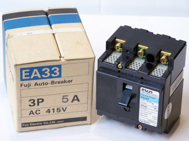 FUJI ELECTRIC EA33 5A AUTO CIRCUIT BREAKER AC 415V 3-POLE 220-240V 2.5kA