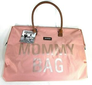 MOMMY BAG BIG PINK FUNCTIONAL LARGE BABY DIAPER TRAVEL BAG FOR BABY CARE NEW