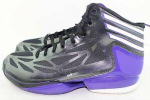 ADIDAS CRAZY LIGHT 2 J BLACK PURPLE YOUTH Size  6.0 same as woman ... 952943a19d