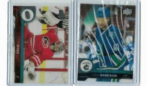 2017-18-Upperdeck-Clear-Cut-Parallel-STEVE-BAERTSCHI-And-CAM-WARD-BV-30