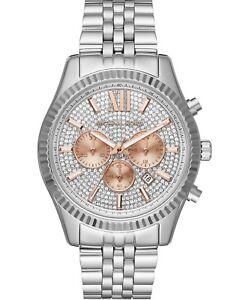 f5ca1db8c2cc6 Michael Kors Men s Chronograph Lexington Bracelet Watch 44mm MK8515 ...