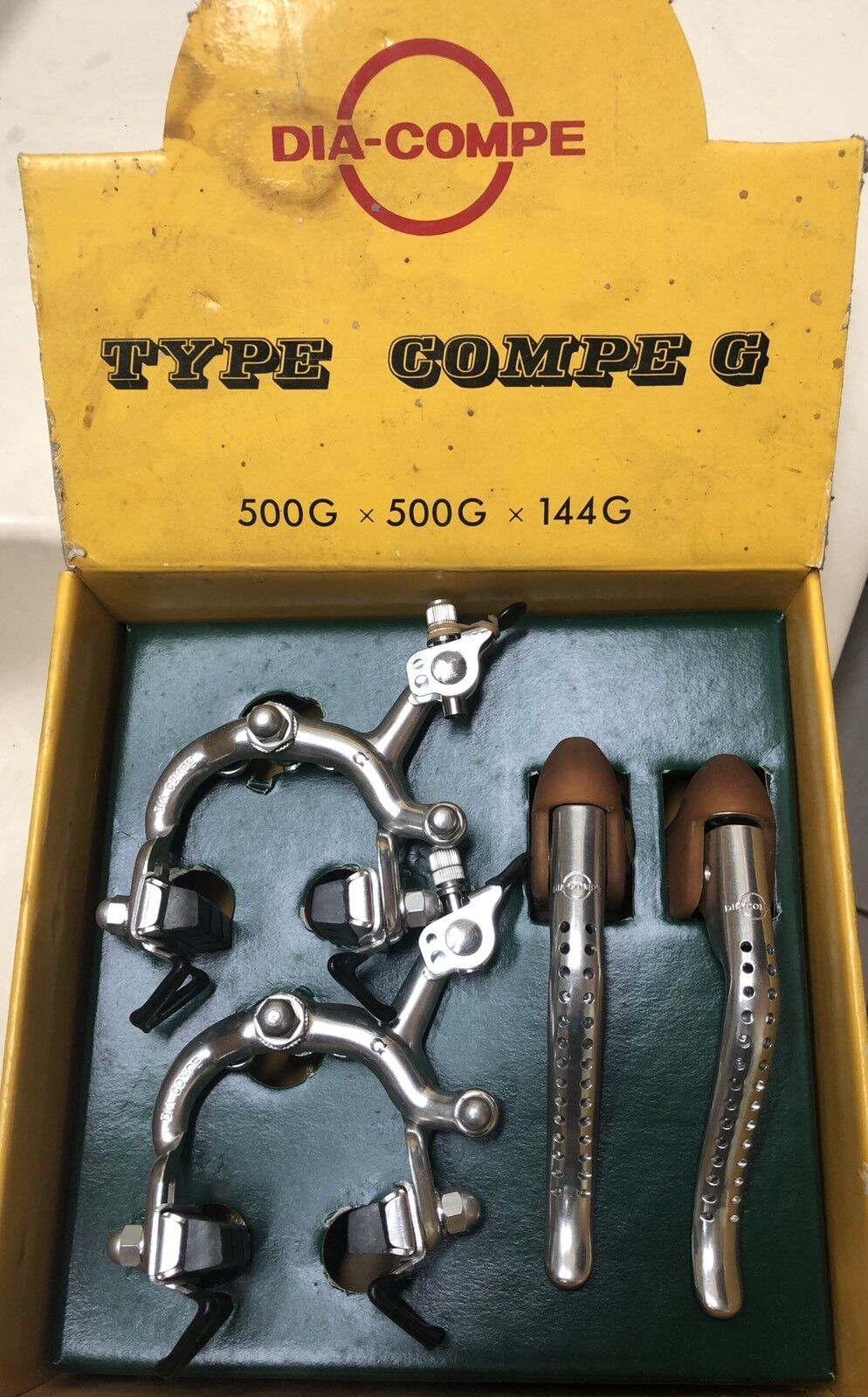 Dia Compe G Brake Set Bicycle NOS Complete clips Cables Levers
