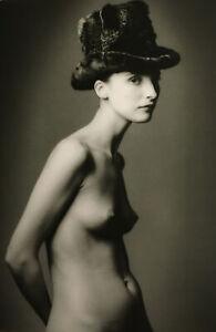1989-FASHION-Paris-SEMI-NUDE-JEANLOUP-SIEFF-Photogravure-13x17-Inches