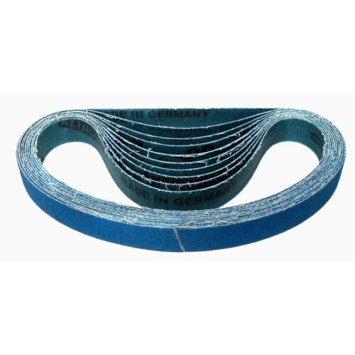 10x Klingspor Gewebe Schleifband Schleifbänder CS411Y 20x520 mm Korn wählbar