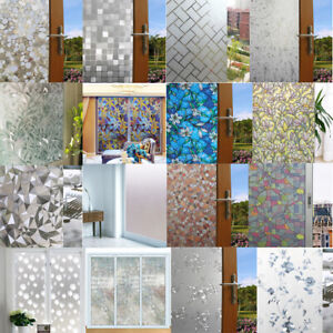 PVC-Window-Glass-Film-Sticker-3D-Static-Cling-Cover-Frosted-Privacy-Home-Decor