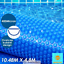 400-Micron-Solar-Swimming-Pool-Cover-Blanket-10-48M-x-4-2M-Roller-Wheel-Blue thumbnail 4