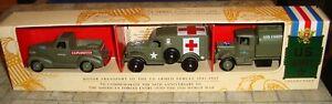LLEDO-US-ARMY-1941-1942-WWII-3-PIECE-SET-INC-MACK-TANKER-DODGE-CHEVROLET-LTD