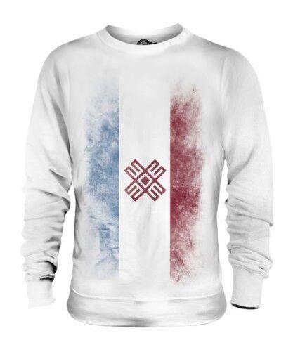 Mari El Décoloré Drapeau Unisexe Pull Maillot Vêtement T-Shirt Cadeau Football