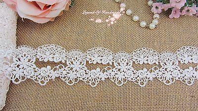 "2""*1Y Beautiful Venise Lace Trim~Pure Black/Warm Ivory/Baby Pink~Sweet Daisy~"