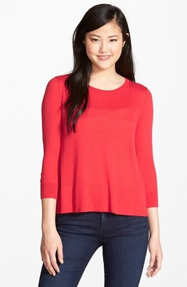 NWT  Halogen Zip Back Trapeze SOLD OUT Sweater    Sz XL   B027