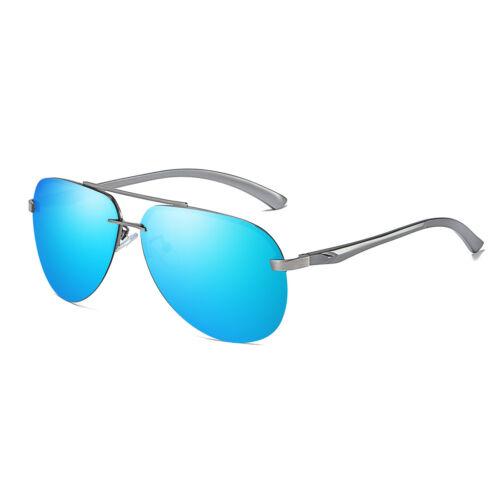 Aluminium Frame Polarized Sunglasses Men/'s Rimless Retro Outdoor Drving Eyewear