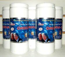 5 Bottles Combo Omega-3 Alaska Deep Sea Fish Oil Natural Marine Lipid Conce.