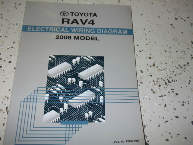 2008 Toyota Rav4 Rav 4 Electrical Wiring Diagram Service Shop Repair Manual Ewd