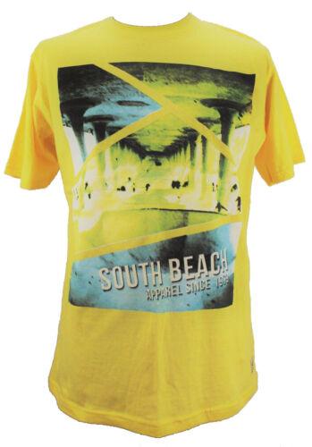 South Beach T-Shirt Hommes Manches Courtes Shirt De Loisirs Shirt Tee Shirt Homme Shirt Logo