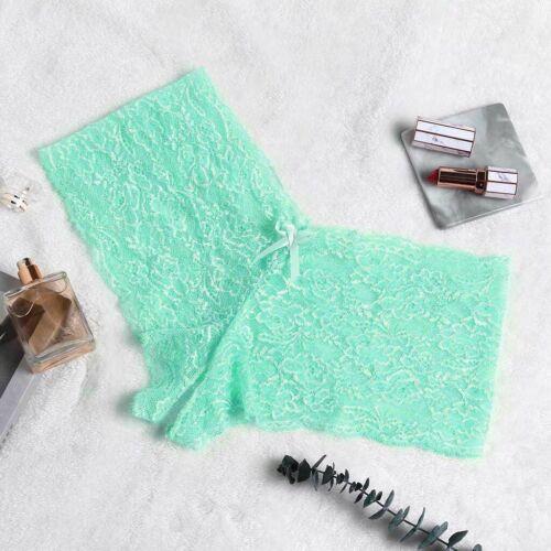 1-6PC Women Lace Lingerie Underwear Open Crotch Bowknot Underwear Plus Size G-0