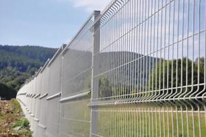 Zaun Stabmattenzaun 3d 50 Lfm 123cm Hoch Metallzaun Inkl Pfosten