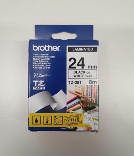 NEU Original Brother P-touch Beschriftungsband TZ-251 TZe-251 TZ Tape Label 24mm