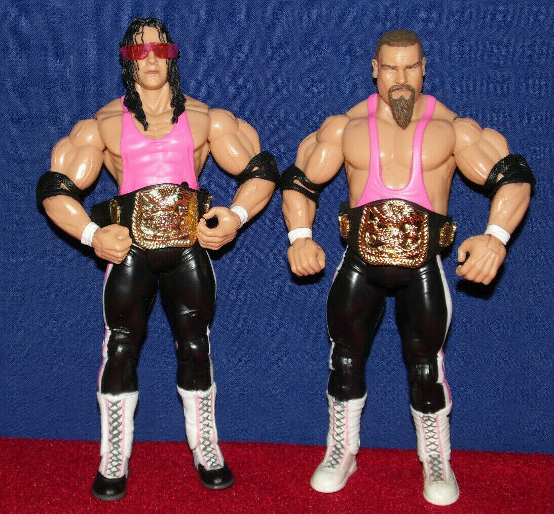Bret Hart Jim Neidhart FOUNDATION WWE TNA FIGURE Jakks Classic Jakks RAW Mattel