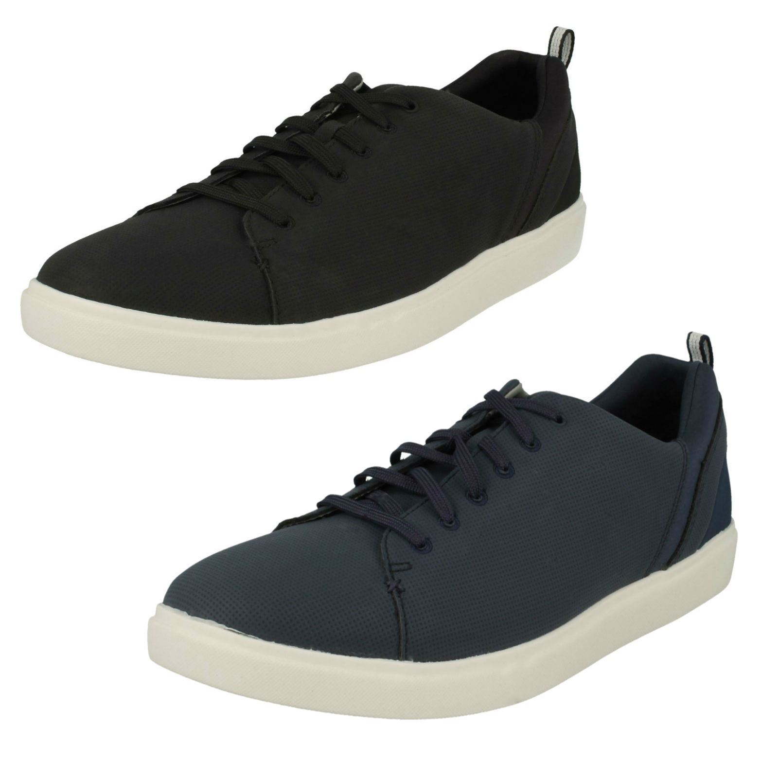 Mens Clarks Casual Lace Up Trainer Style Shoes - Step Verve Lo