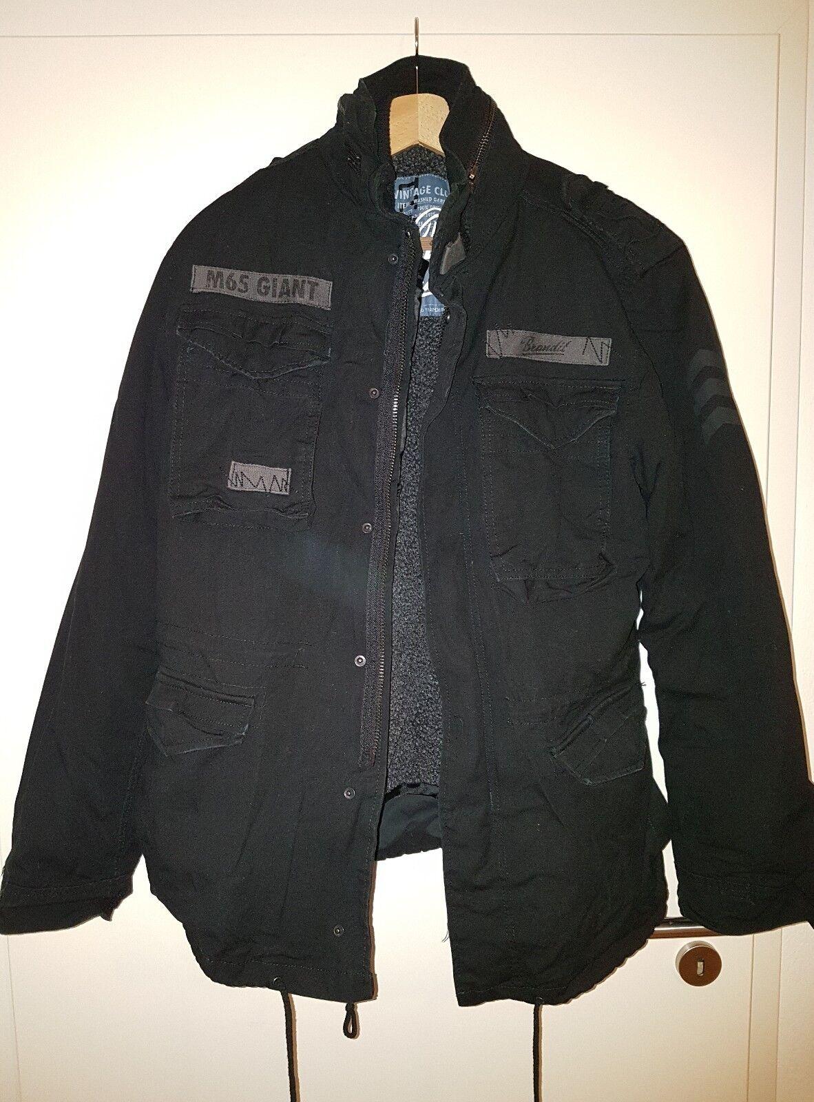 Brandit Winterjack, schwarz M, Größe Jacke Herren Giant M65
