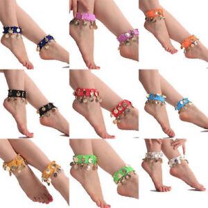 Belly-Dance-Wear-Bracelet-Wrist-Ankle-Arm-Leg-Elastic-Cuff-Hand-Gold-Coin-Party