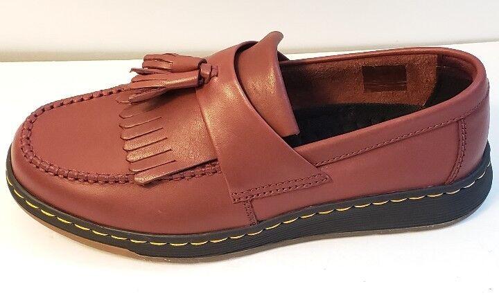 Dr. Martens Edison Slip-On Loafer Cherry Red Tassel Kiltie men Size 5 8