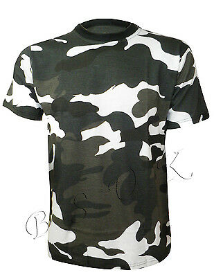 MENS MILITARY COMBAT CAMOUFLAGE ARMY PRINT CASUAL T-SHIRT SIZE ( SMALL- 5XL )