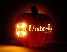 "Umbrella Corporation - RESIDENT EVIL (Hand-Carved Foam Halloween Pumpkin 8"")"