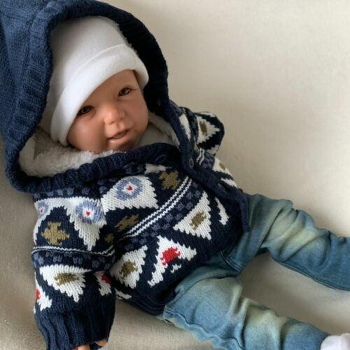 NEU Baby Jungen Strickjacke Cardigan Weste Kapuzenjacke Gr 56 62 68 74 80