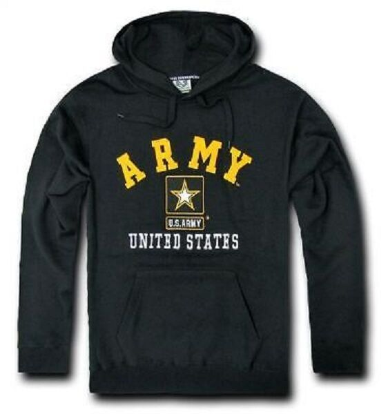 US Military in pile Army Star USA Pullover con cappuccio cappuccio cappuccio Hoody Hoodie nero S Small b204c8
