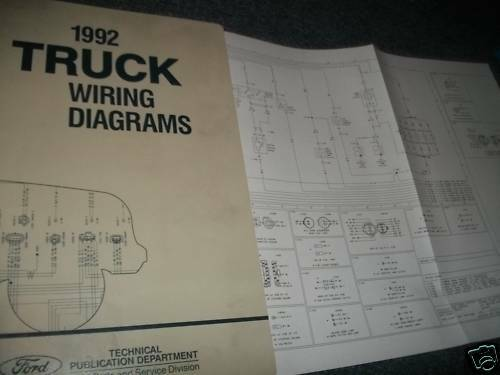 1992 Ford Aerostar Wiring Diagrams Oem Ford Manual Set