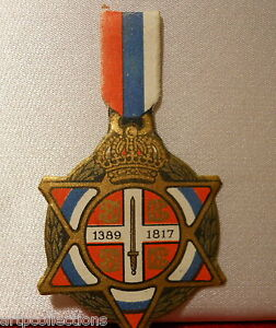 Insigne JournÉe Guerre 1914 1918 Journee Serbe 25 Juin 1916 Vt5wvlal-08004339-889505589