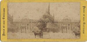 Parigi Palais Da Justice Francia Foto Stereo Stereoview Vintage Albumina Ca 1865